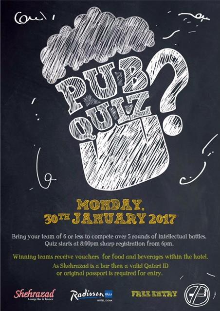 Pub Quiz Doha Qatar